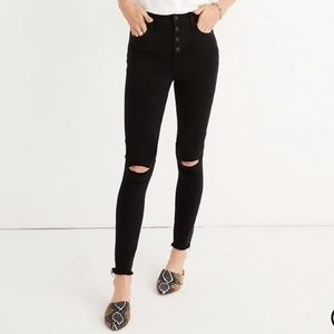 Madewell High Rise Jeggings Button Front Edition